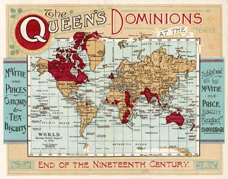 WORLD MAP EMPIRE MCVITIE