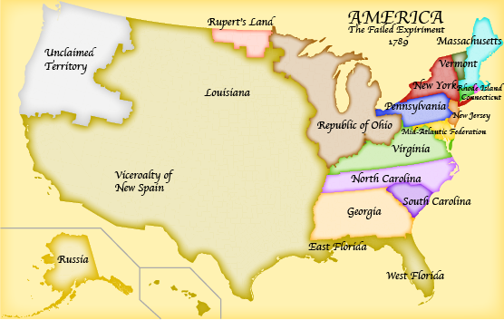 Alternate History Page Almost Educational - Alternate history us map